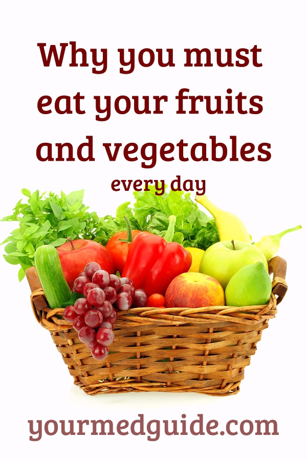 Why you must eat your fruits and vegetables every day #health #healthyliving #healthyeating