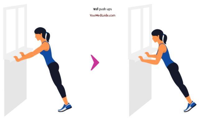 Exercise 5 Wall pushups