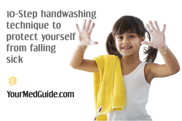 10 Step handwashing technique to protect your kids from falling sick