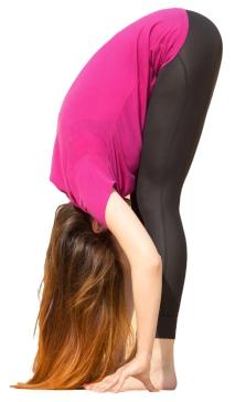Rag doll yoga pose for kids