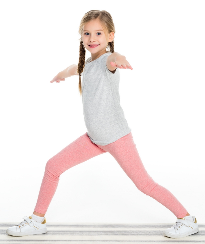Warrior pose yoga poses for kids